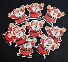 20 WOODEN CHRISTMAS HAPPY SANTA BUTTONS - XMAS - CRAFT - SCRAPBOOK - SEW - CARDS