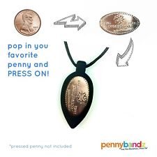 Pennybandz Elongated Pressed Penny Necklace in Black