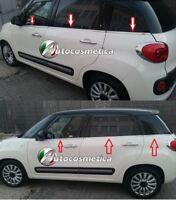Strisce Cromate sotto finestrini Acciaio Fiat 500L e 500L trekking raschiavetri*