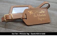 200 British tan,PRINCESS Wedding, bonded leather, luggage tags, $2.75 each.