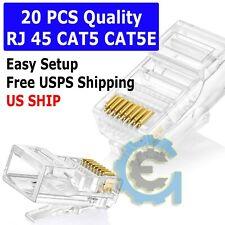 20 pcs RJ45 Modular Plug CAT5 CAT5E 8P8C Network Cable LAN Connector End Plug