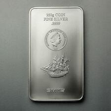 îles cookS 250 Grammes Lingot d'argent Bullion coins SMI 999 Silber argenté