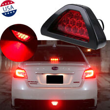 F1 Style Triangle Red 12-LED 3rd Rear Bumper Tail Stop Strobe Light Universal