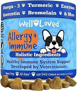 Well Loved Dog Allergy Relief - Itch Relief Prevent Scratching Seasonal Allergy