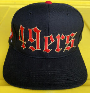 NWOT Vintage 90s San Francisco 49ers Drew Pearson Old English Snapback Hat Cap