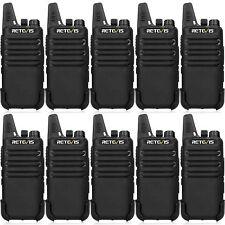 10X Walkie Talkies Retevis RT22 VOX TOT CTCSS&DCS 462-467MHz 16CH Squelch Radios