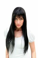 Wig Black Sexy & Dominant Long and Smooth Falling Hair with Fringe 9293-2