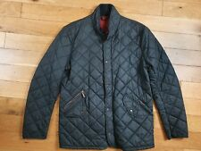 Mens Classic Black Barbour Quilted Jacket Size Small