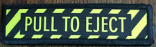 1x4 Pull To Eject Morale Patch Tactical Military Army Flag USA Badge Hook Jet