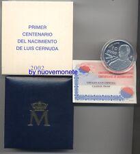 ESPAÑA  SPAGNA 10euro 2002 CERNUDA  PLATA PROOF ESCASA  25.000