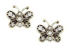 0.3 ct F VS round diamond butterfly earrings 14k white gold push backs 4 grams