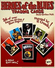 R. CRUMB HEROES OF THE BLUES LARGE PROMOTIONAL POSTER