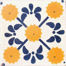 C#030) 9 MEXICAN TILES LOT TALAVERA MEXICO CERAMIC ART CLAY