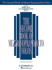 Second Book Of MezzoSoprano/Alto Solos SING VOCAL CHORAL VOICE CHOIR Music & CD