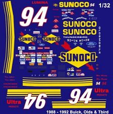 #94 Terry Labonte Sunoco Olds 1988-92 1/32nd Scale Slot Car Decals