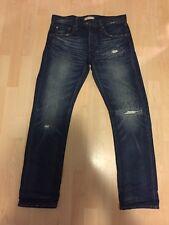 Uniqlo Blue Japan Jeans Denim Damaged Slim Skinny Size 32