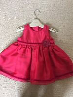 Marks And Spencer's Little Girls Red Frilly Dress Age 3/6 Months