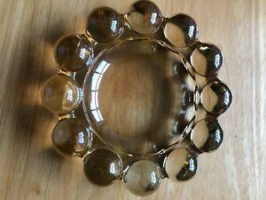 Vintage PEACH Carnival Glass ASHTRAY Hobnail