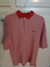 Man's sz. S Polo style shirt by Greg Norman /burgundy & white stripe A+++