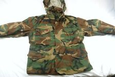 US ARMY Men's Med-Short Cold Weather Camo Field Jacket Coat w/Hood #H890