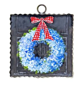 Round Top Collection NWT - Mini All American Hydrangea Wreath Print