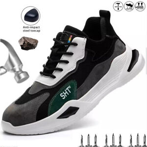Lightweight Safety Trainers Mens Womens Steel Toe Cap Work Boots Hiking Shoes UK
