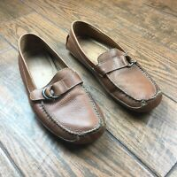 Johnston & Murphy MENS 10.5 M Brown Driving Slip On Loafers Moccasins Shoes