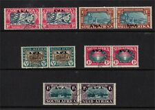 South West Africa GV1 1938-39 Voortrekker and Huguenot Sets Fine Used