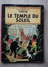 ALBUM HERGE TINTIN LE TEMPLE DU SOLEIL Plat B35 Bis 1965 Bon état