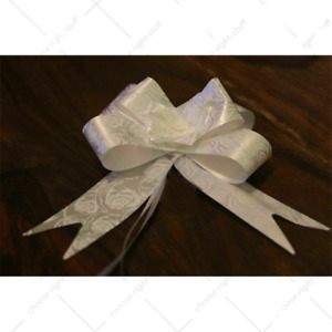 Large 30mm Organza Pull Bow Quality Gift Wrap Ribbon Wedding Car Assorted colour