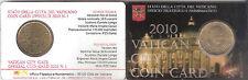 B) VATICANO COIN CARD 50 CENTESIMI DEL 2010 FDC