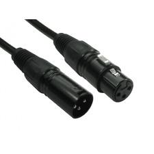 3 Pin XLR Mikrofon Kabel Stecker zu Buchse Ausbalanciert Patch Ofc - Schwarz