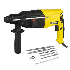 HEAVY DUTY 850W ROTARY SDS HAMMER DRILL & CHISELS IN CASE 3 WARRANTY