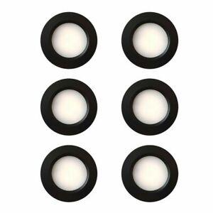 6 x LED 12V 24V Spot Lights Dimmable Caravan Boat Black Downlight Cool White