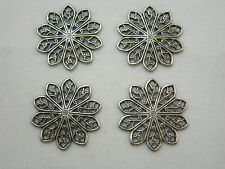 Silver  Plated Victorian Filigree Earring Drops 4
