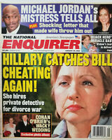 National Enquirer Jan 29 2002 Hillary Clinton Catches Bill - Michael Jordan