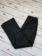 Ann Taylor LOFT black dress pant Size 8 career stretch wide leg straight cut