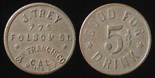 J. TREY / 775 FOLSOM ST. San Francisco, California trade token K2591