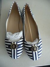 New Tommy Hilfiger Canvas Navy & White Shoes NWOB Size 10M