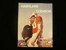 November 17, 1962 U. Maryland vs. Clemson University Football Program