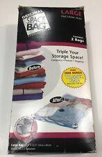 ORIGINAL SPACE BAG 2 Large Vacuum Seal Bags Size 21.5 X 33.5 New