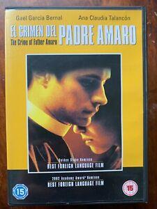 El Crimen del Padre Amaro DVD 2002 Spanish Priest Forbidden Love Movie Drama