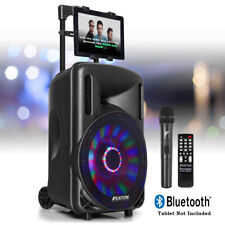 More details for 10-led karaoke machine speaker set system, wireless microphone lights, bluetooth