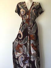 Women Long Maxi summer beach party hawaiian evening boho sundress dress #1 XXL