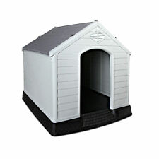 Pet Dog Kennel Weatherproof Plastic Outdoor Indoor Puppy Garden House Large 99cm
