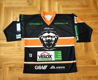 Graz 99ers Eishockey XL Lorber #11 Spielertrikot Gr. XL Schwarz Orange Easton