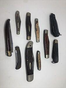 Lot Of Vintage Pocket Knifes, Case, Schrade, Sheffield, Laguiole, G 96. Camco