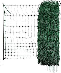 Electric Fence 50m Green Poultry Netting Double Pronged Spikes