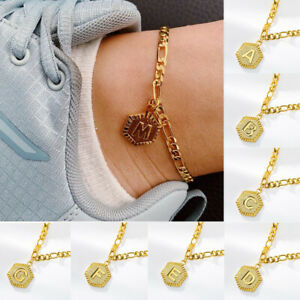 A-Z Foot Anklet For Woman Fashion Jewelry Alphabet Initial Letter Chain Supe