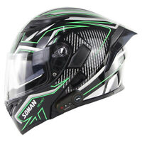 DOT Approval Motorcycle Bluetooth Helmet Flip Up Modular Double Lens Moto Helmet